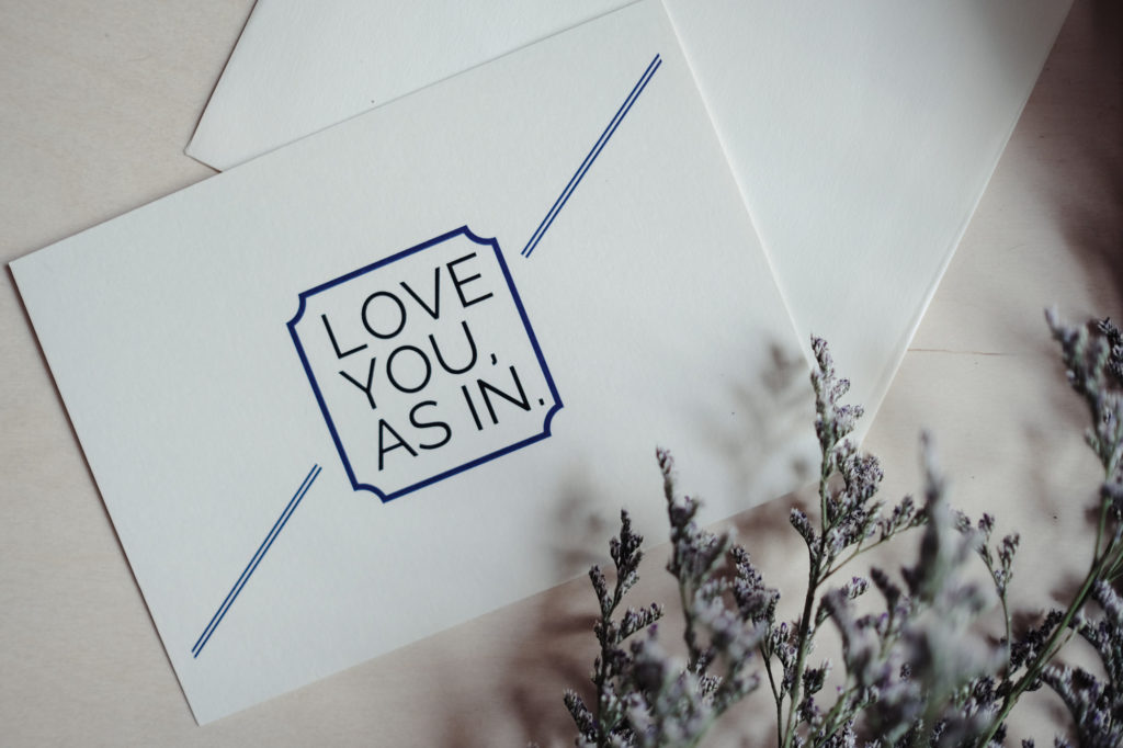 love you as in