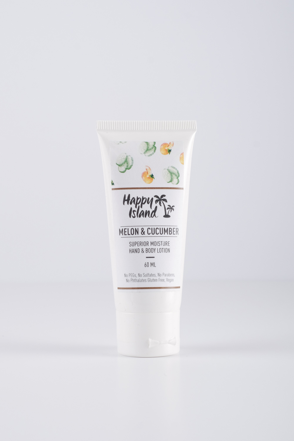 Happy Island Melon & Cucumber Scented Lotion — A real fresh fragrance of cucumber and melon with a little light musk and light wood notes supported by fresh green mid notes.