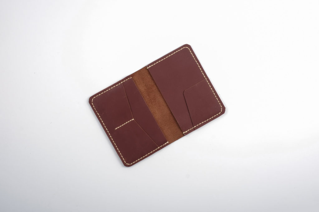 Leather Passport Holder by Bespoke with Joy (brown) — A leather passport holder to match our luggage tag. This item can be monogrammed with the giftee's initials. Please indicate your request at checkout.