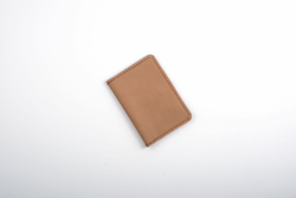Leather Passport Holder by Bespoke with Joy (light brown) — A leather passport holder to match our luggage tag. This item can be monogrammed with the giftee's initials. Please indicate your request at checkout.