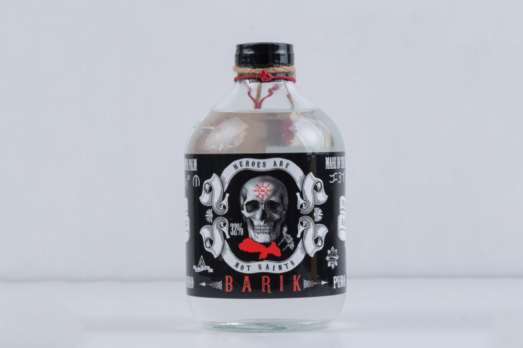 Barik Supremo Lambanog Puro 500 ml — Authentic Filipino moonshine made from the sap of the nipa palm's fruit. Delicious, refreshing, and guaranteed to give you a great buzz.