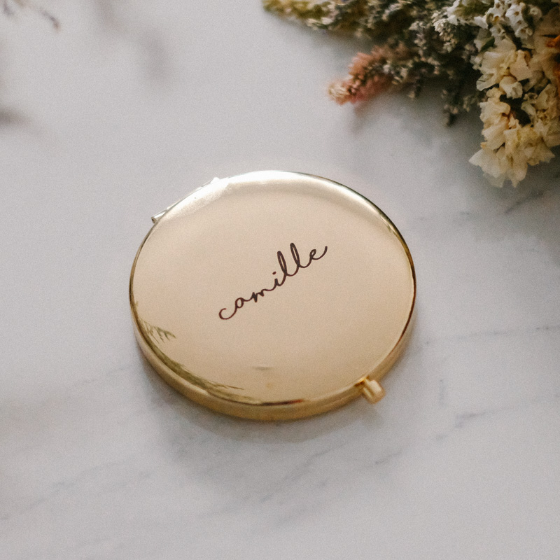 Yellow Gold Compact Mirror