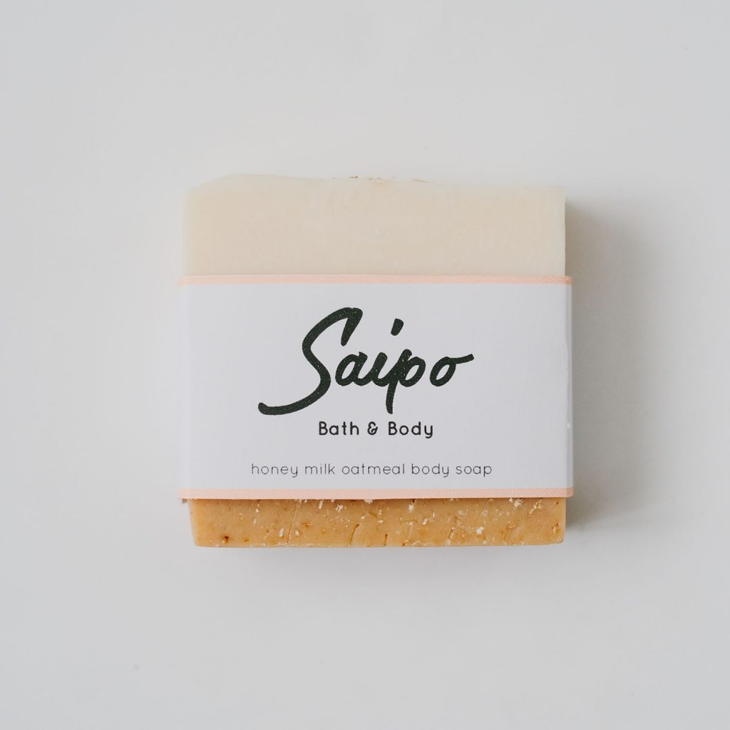 Honey Milk Oatmeal Body Soap by Saipo